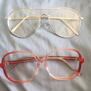 Two pair of glasses